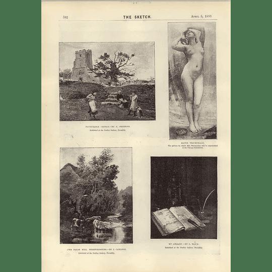 1893 Art Notes Mrs Swynnerton J Carlisle Edward Burne-jones