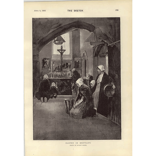 1893 Easter In Brittany Dudley Hardy Chat With Miss Pattie Browne
