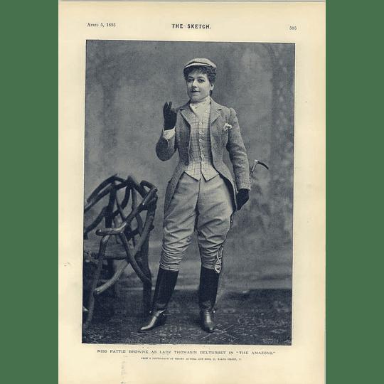 1893 Miss Ellaline Terriss Miss Pattie Browne Photographic Poses