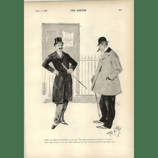 1893 Trouble With Coats Cartoon The Jury Man