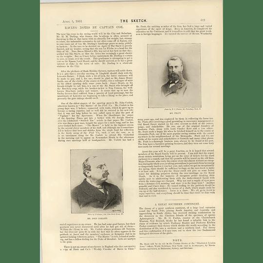 1893 Mr John Corlett Mr Pratt Sandown Park