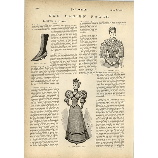 1893 Children's Rest Home For The Homeless The Abercrombie Gown