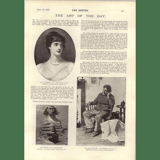 1893 Art Notes Edward Tayle Walter Langley Rose Barton