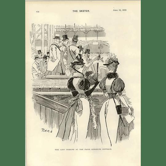1893 Jury Tribune At The Paris Concours Hippique The Queen At Florence