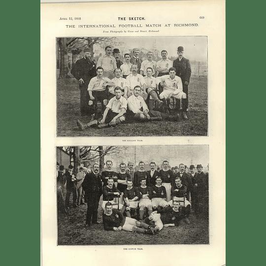 1893 Scotland England Football Match Richmond Funeral Moscow Mayor Alexieff