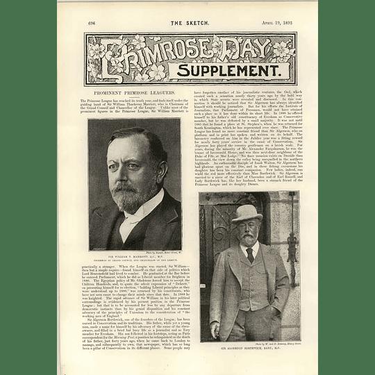 1893 Prominent Primrose Leaguewilliam T Marriot Algernon Borthwick