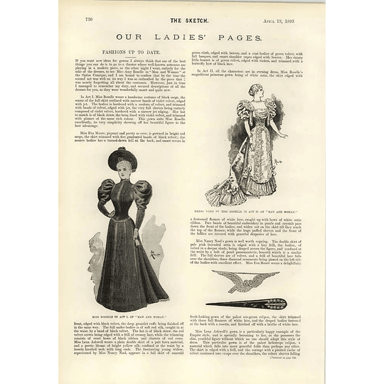 1893 The Tragedy Of The Seal Fashions Of Miss Rosselle