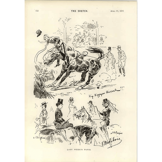 1893 Last Week Horse Episode In Paris Villedebois