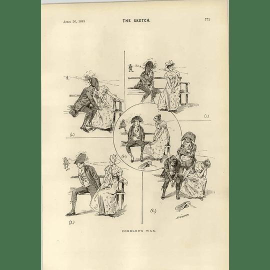 1893 Cobblers Wax Cartoon Melton Prior His First Speech