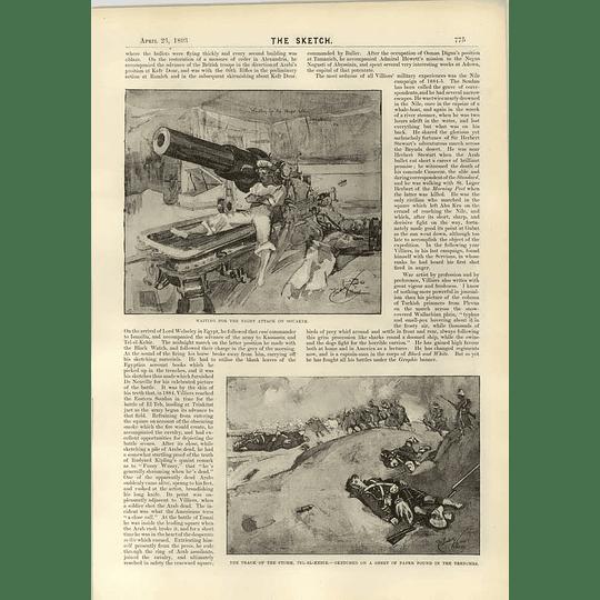 1893 Mr Frederick Villiers War Artist 2 Kassassin Souakim