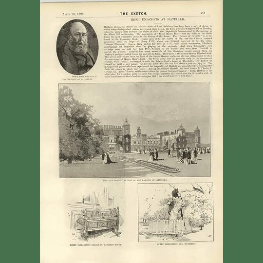 1893 Irish Unionists At Hatfield House