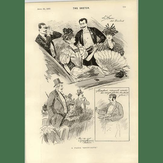 1893 A Paris Entr'acte L'heure Des Bonbons