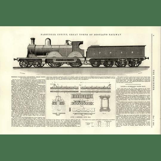 1891 Great North Scotland Railway Express Passenger Locomotive