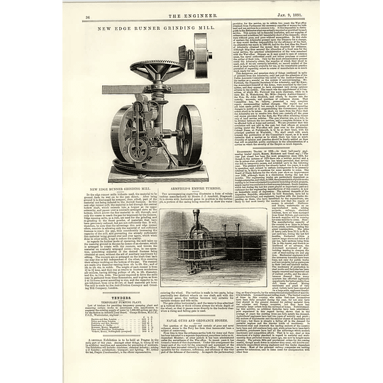 1891 New Edge Runner Grinding Mill Armfield Empire Turbine Ringwood