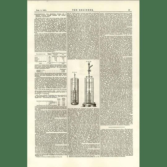 1891 Calorimeter For Testing Fuels Small-scale