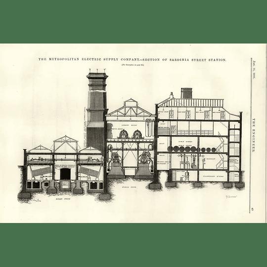 1891 Sardinia Street Station Section Metropolitan Electric Supply Co