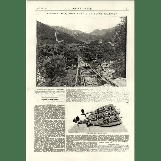 1891 Victoria Gap Hong Kong High-level Tramway Hamilton Triple Screw Gearing