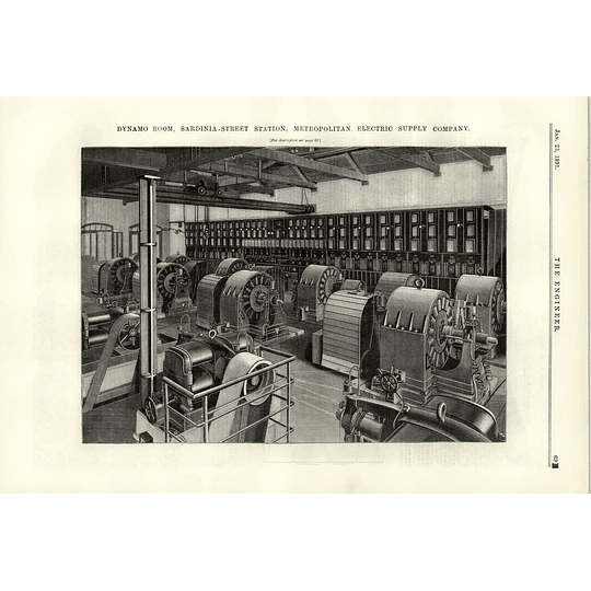 1891 London Electric Supply Sardinia Street Dynamo Room