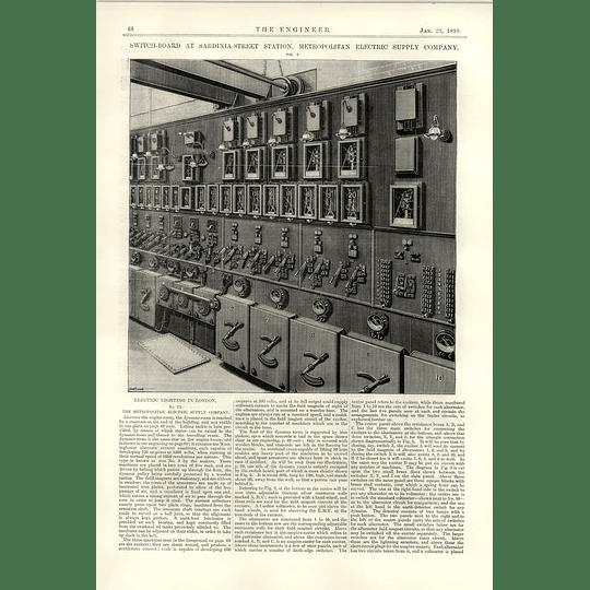 1891 Electric Lighting London Sardinia Street Switchboard
