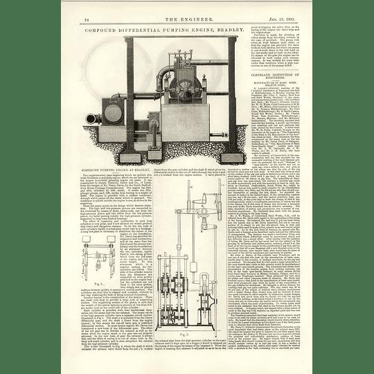 1891 Compound Pumping Engine And Bradley Hathorn Davey Mine Drainage