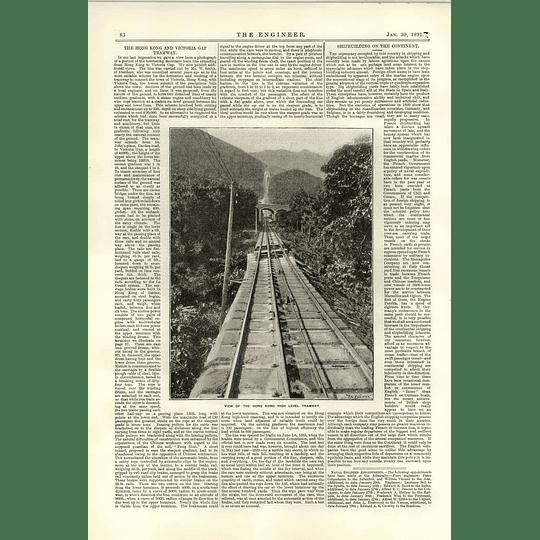 1891 Hong Kong High-level Tramway Victoria Gap