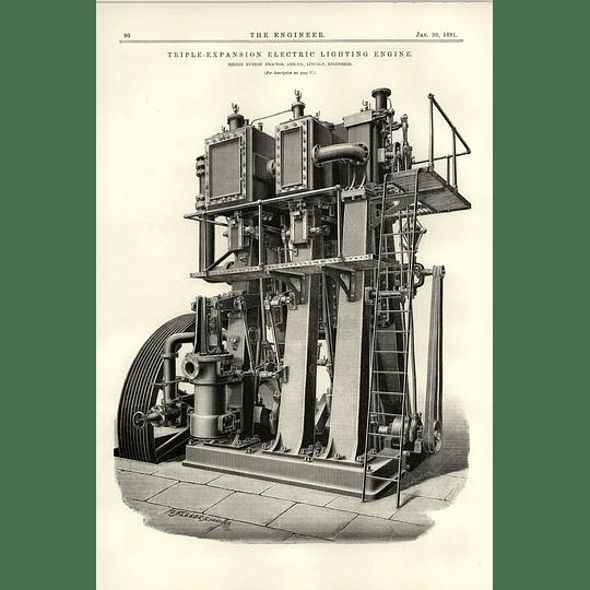 1891 Triple Expansion Electric Lighting Engine Ruston Proctor