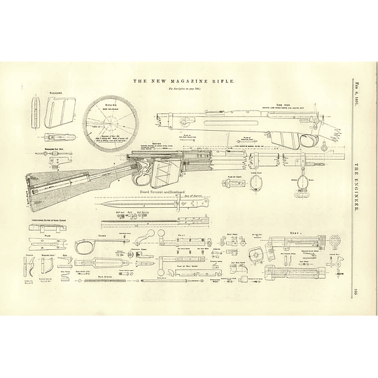 1891 The New Magazine Rifle Detailed Plans John Dixon Robert Mushet