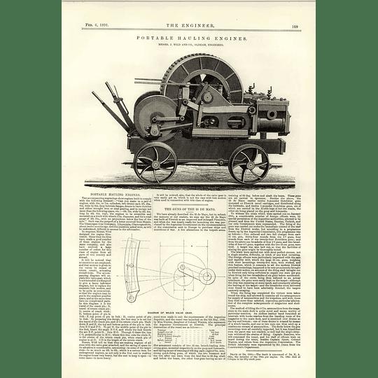 1891 Portable Hauling Engines Wild Oldham