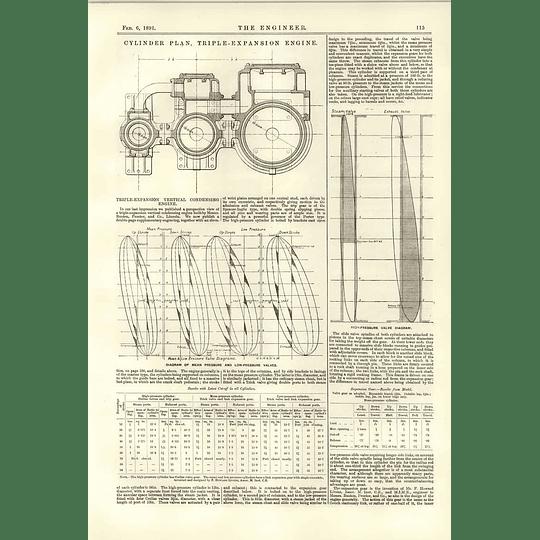 1891 Cylinder Plan Triple Expansion Engine