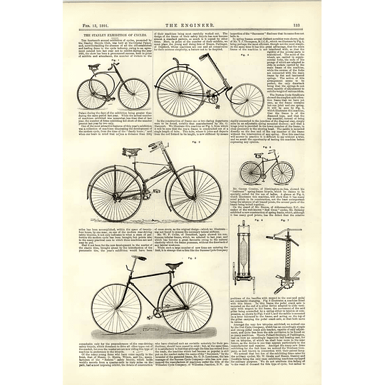 1891 Stanley Cycle Exhibition Spring Frame Red Cross Safety Bicycles