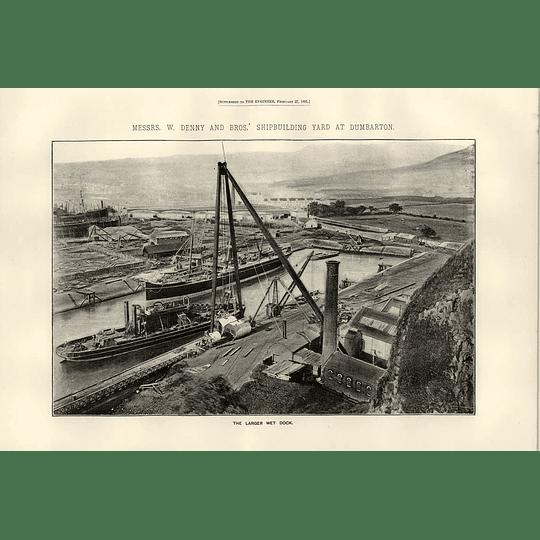 1891 W Denny Shipbuilding Yard Dumbarton Larger Wet Dock