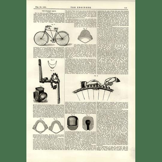 1891 Stanley Show Zimer Maxim Stud Tyre