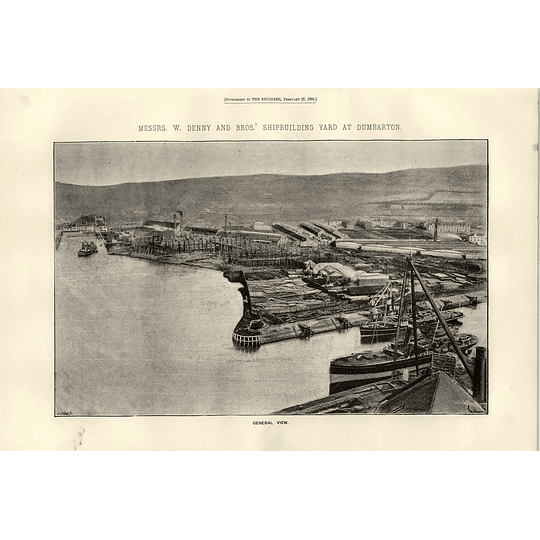 1891 W Denny And Sons Shipbuilding Yard Dumbarton General View