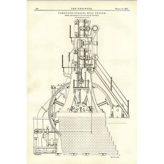1891 Compound Corliss Mill Engine Musgrave Bolton