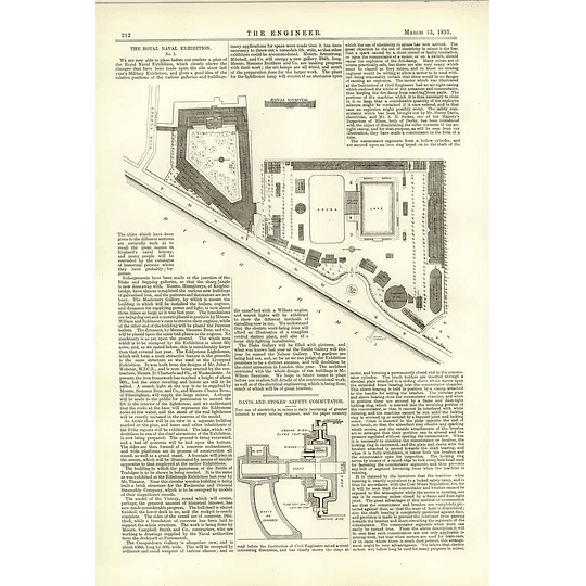 1891 Royal Naval Exhibition Plan Davies Stokes Safety Commutator
