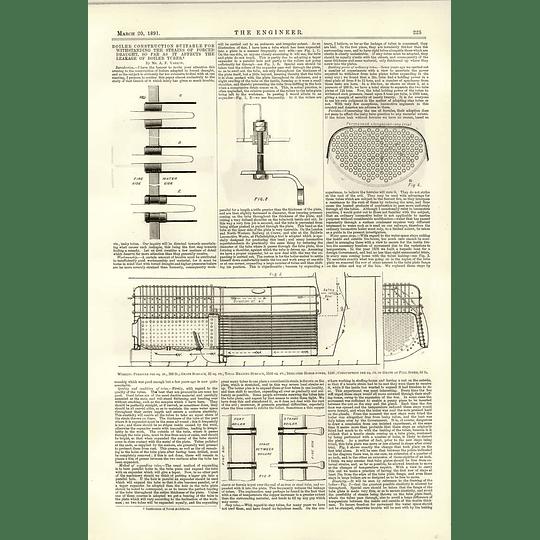 1891 Boiler Construction Forced Draught Af Yarrow 1