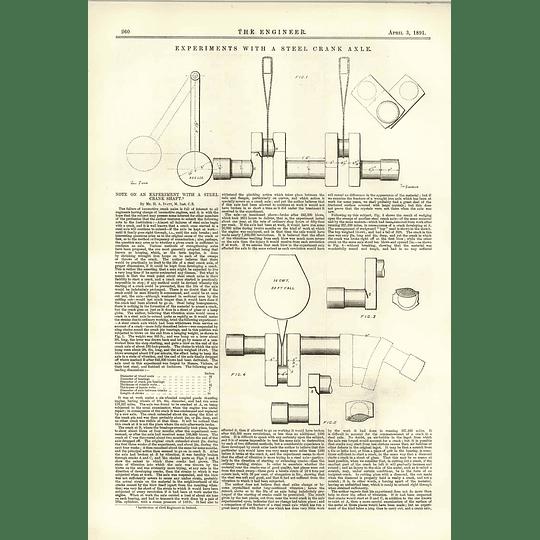 1891 Experiments With A Steel Crankshaft Ha Ivatt