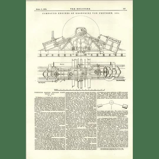 1891 Compound Marine Engines 1835 Kronprinz Von Preussen 1