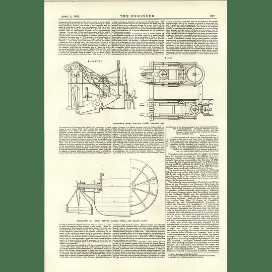 1891 Compound Marine Engines 1835 Kronprinz Von Preussen 2