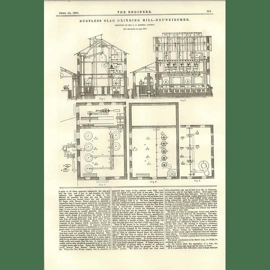 1891 Dustless Slag Grinding Mill Gf Zimmer Neunkircher