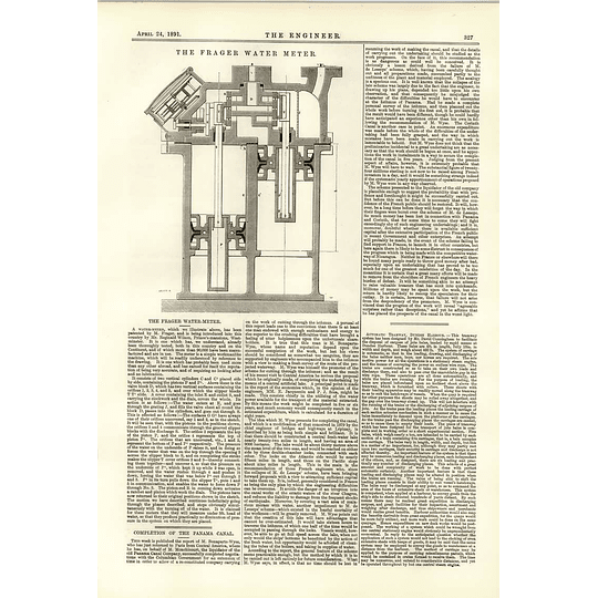 1891 The Frager Water Meter Automatic Tramway Dundee Harbour
