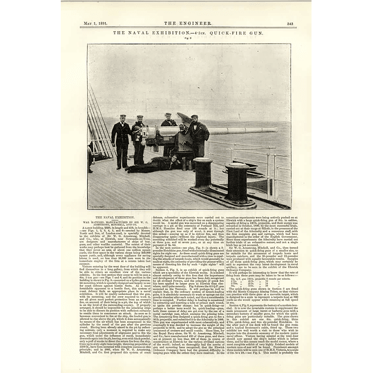 1891 Hms Victoria The Naval Exhibition Quickfire Gun