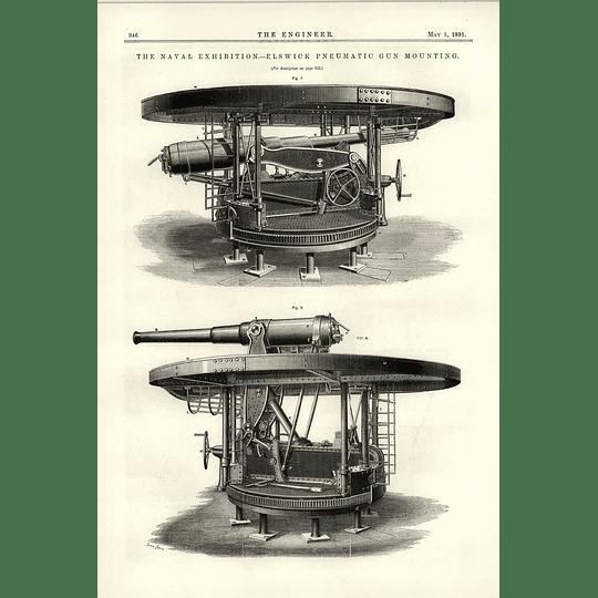 1891 Elswick Pneumatic Gun Mounting
