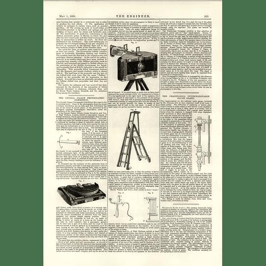 1891 Photographic Exhibition Panoramic Camera Chanstangla Interchangeable Gauge Gland