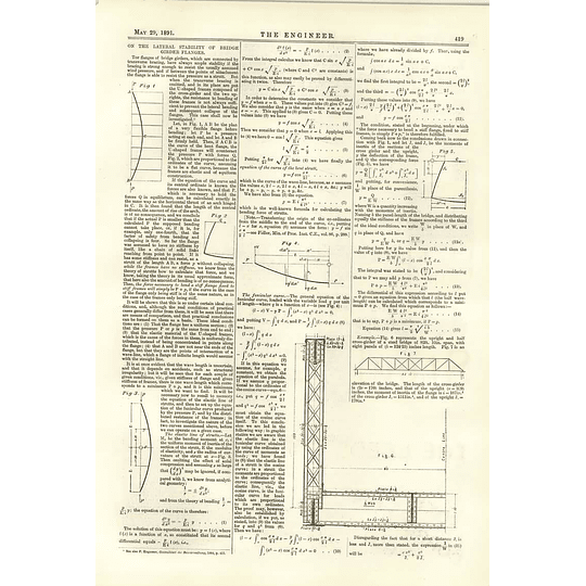 1891 Lateral Stability Of Bridge Girder Flanges