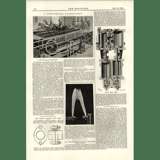 1891 Theatrical Racecourse Electrical Belt Theatre Des Varietes Paris Duplex Brake Pump