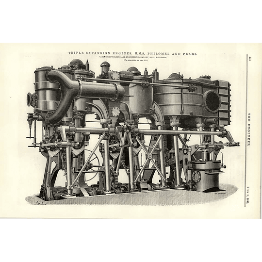 1891 Triple Expansion Engines Hms Philomel And Pearl