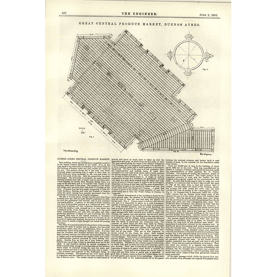 1891 Central Produce Marketing Buenos Aires Central Description