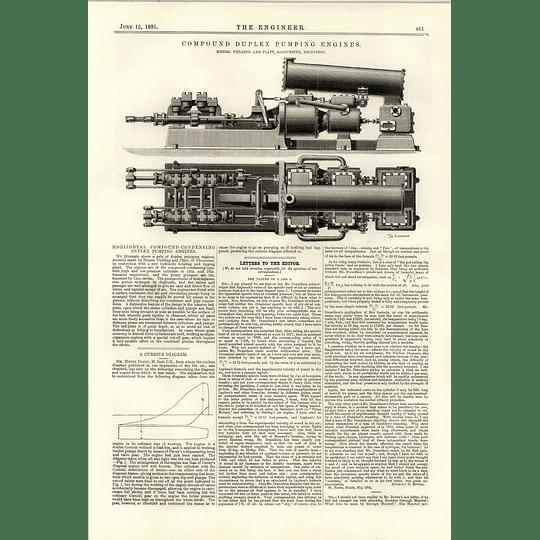 1891 Fielding Platt Compound Duplex Pumping Engines
