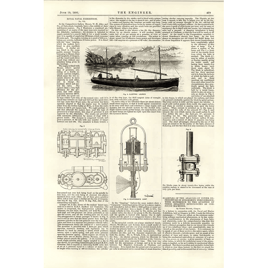 1891 Wh Allen Lambeth Electric Launch Boardmans Lamp